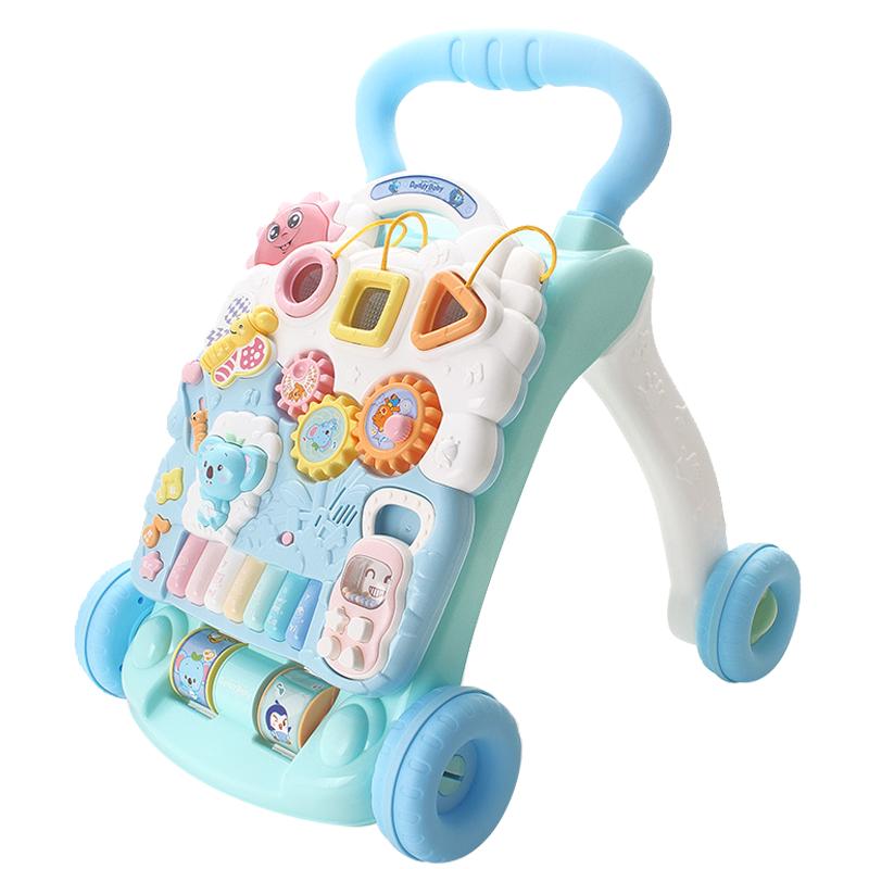 优乐恩(Youleen)婴儿学步车手推车多功能防侧翻可调速蓝白升级款 8-20个月