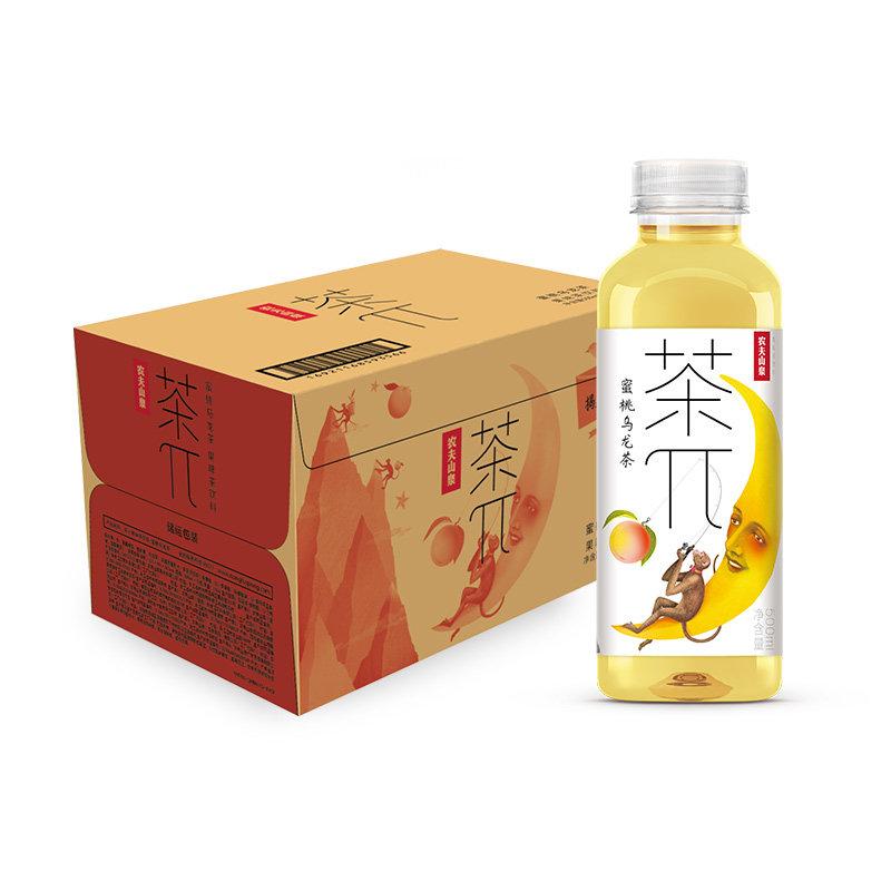 农夫山泉 茶π(茶派)果味茶蜜桃乌龙茶500ml*15瓶整箱