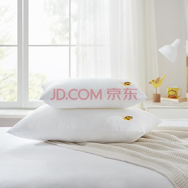 LOVO乐蜗家纺床上用品 卡通枕芯 小黄鸭 学生宿舍纤维枕芯 可水洗纤维枕 47*73cm,乐我童年(LOVOKIDS)