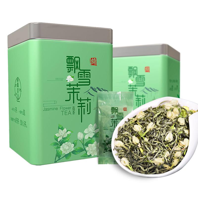 飘雪茉莉花茶20包独立小包100g罐装
