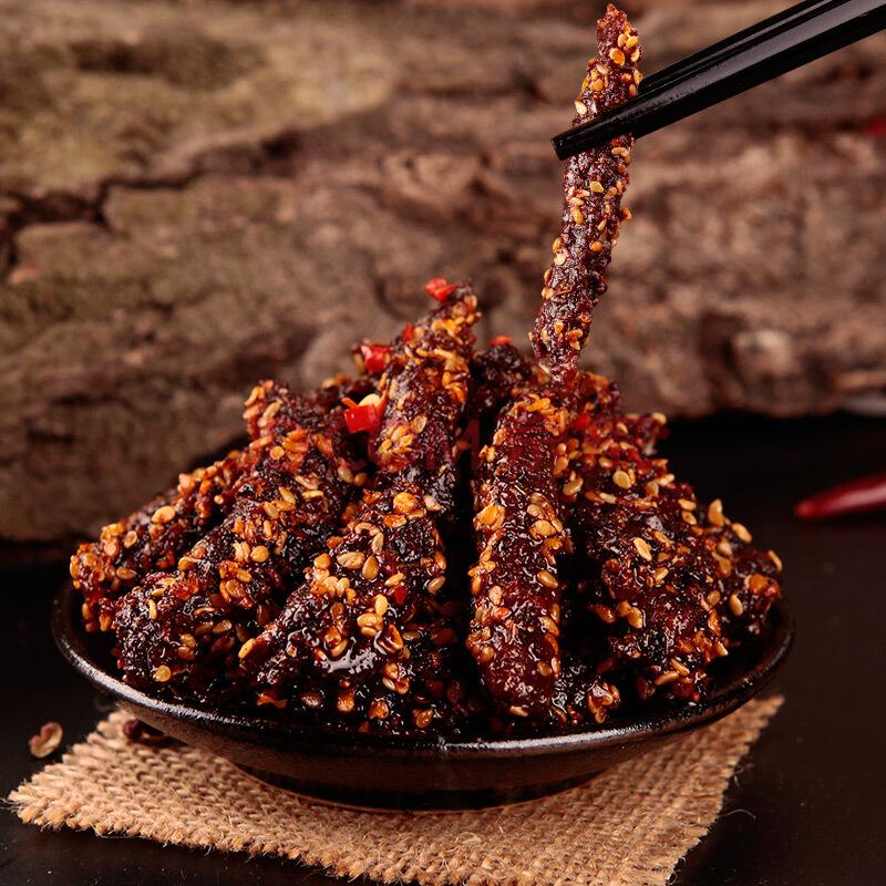 蜀道香 休闲零食小吃 熟食肉脯 四川特产牛肉干 烧烤味牛肉100g,蜀道香
