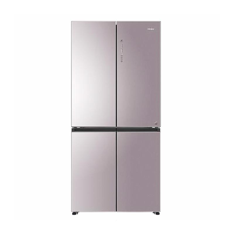 海尔(Haier)冰箱 十字对开门 多门 风冷无霜471升双开门四门变频家用节能超薄 电冰箱 新品 BCD-471WDCD 晶彩
