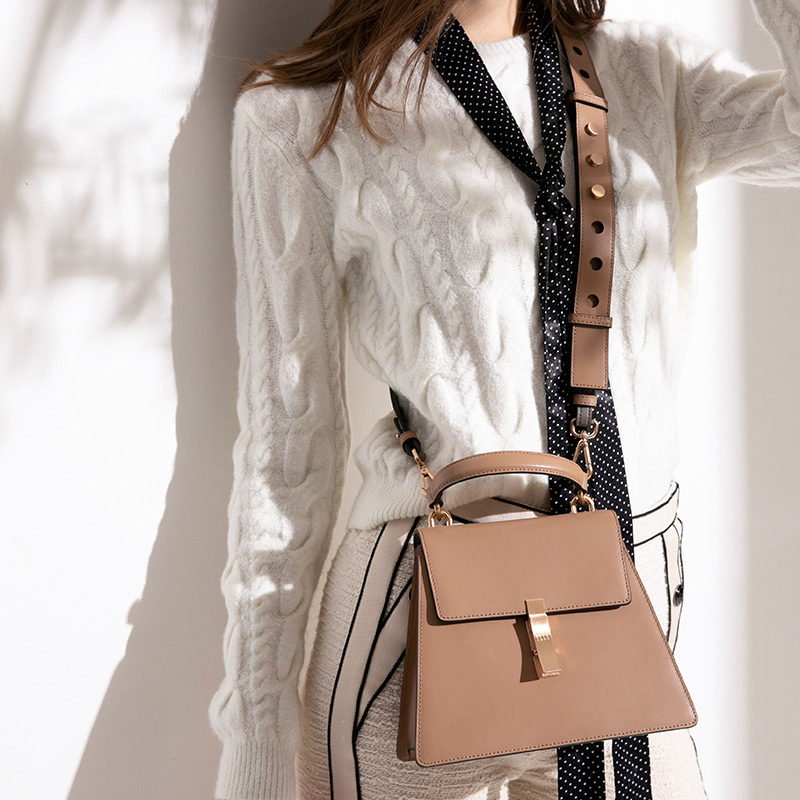 ELLE女包單肩包96129個性幾何形單肩斜挎手提包