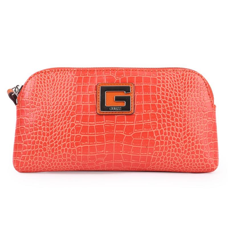 GUESS蓋爾斯 新款女式鱷魚紋手拿包