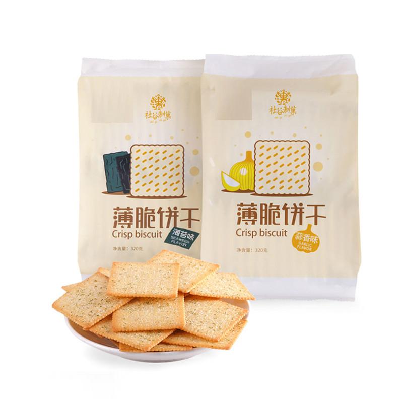 社谷制菓 薄脆餅干 320g/袋 海苔味