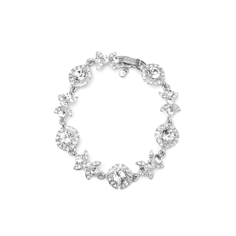 Givenchy/纪梵希 奢华款花语系列银色仿水晶女士手链 60491548-NY0