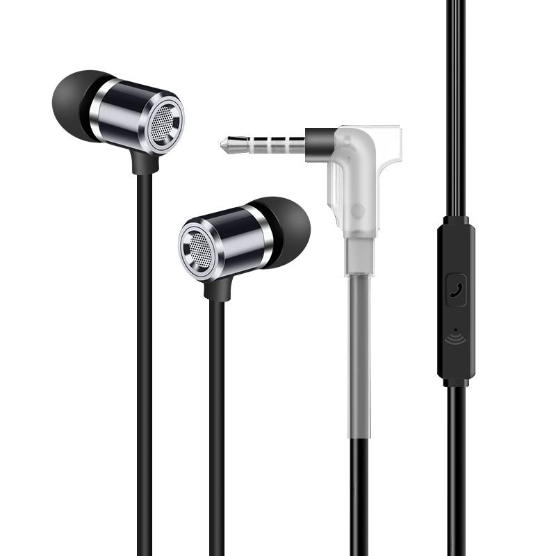 纽曼mx660支架版入耳式有线线控通话耳机适用华为苹果小米荣耀