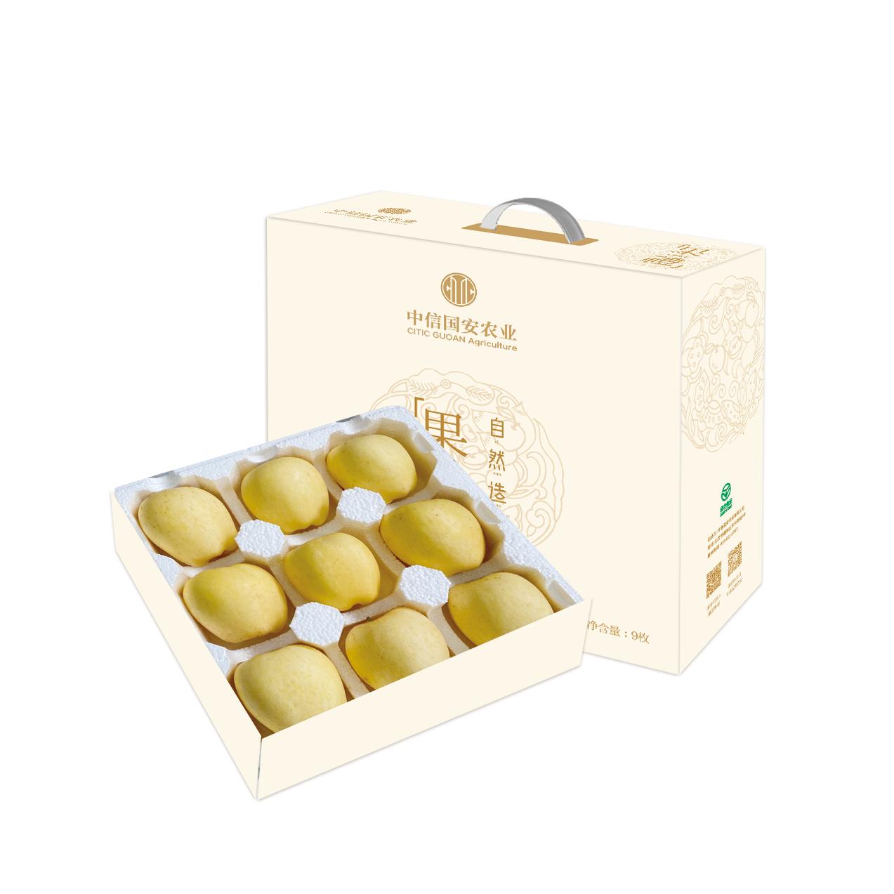 信农宜食 维纳斯黄金苹果盒装 9粒/箱(单果径80-85mm)