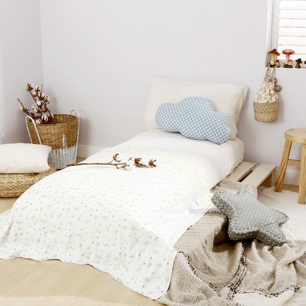 全棉時代兒童紗布空調被綠兔子+黃底蜜蜂800-005571-01