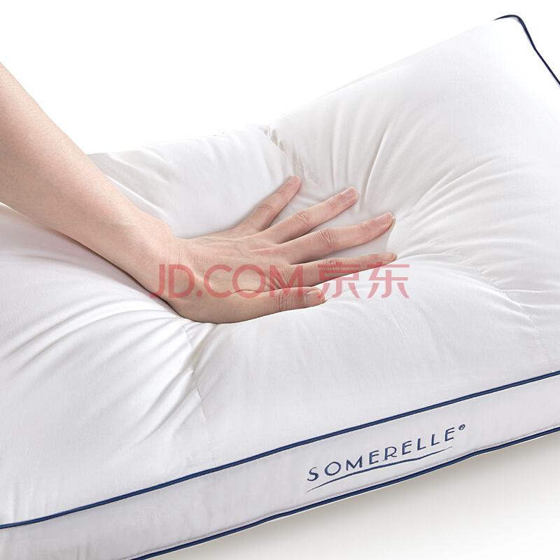 安睡宝(SOMERELLE)枕芯 科技纤维枕头 索瑞纳可水洗分区立体枕 高弹舒适 单只装,安睡宝(SOMERELLE)
