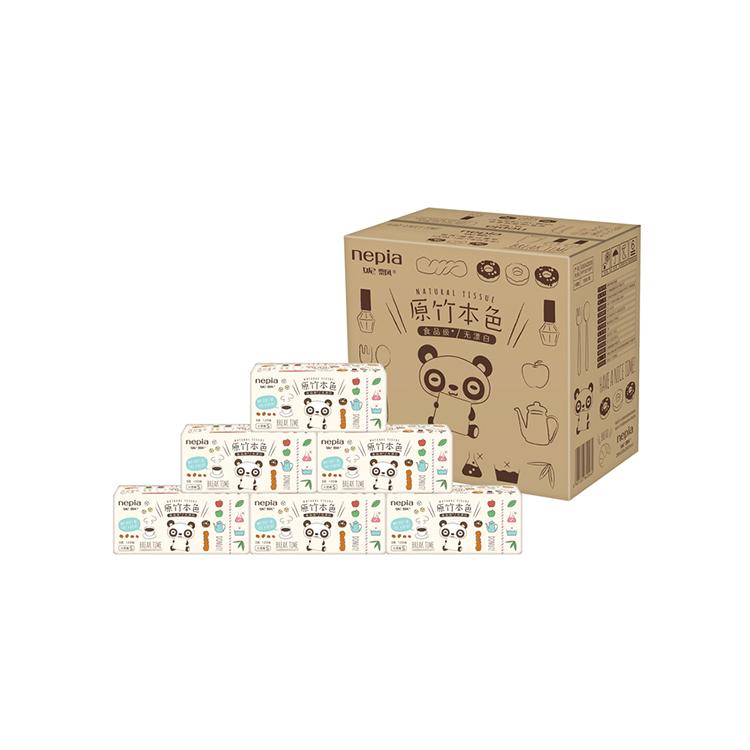 Nepia/妮飘 抽取式面纸整箱18包120抽3层(本色卡米)