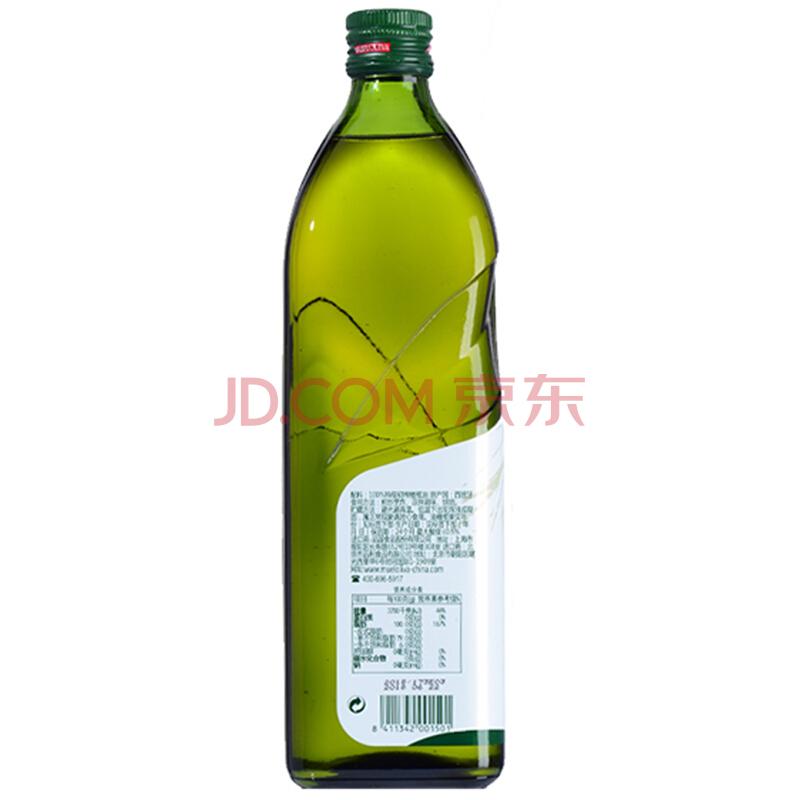 品利(MUELOLIVA)特级初榨橄榄油 1L 西班牙原瓶原装进口冷压榨家庭健康食用油,品利(MUELOLIVA)