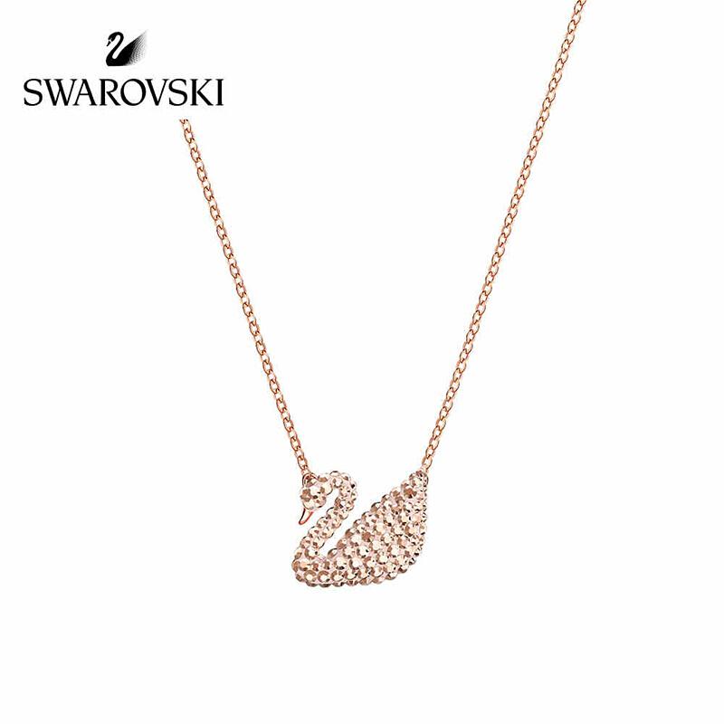 Swarovski/施华洛世奇 新品 ICONIC SWAN 天鹅玫瑰金色女项链锁骨链 镀玫瑰金色 5368988