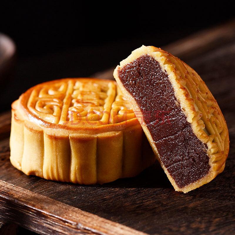 澳门香香 金尊 豆沙 广式月饼散装125g 休闲零食饼干点心早餐小吃,金尊