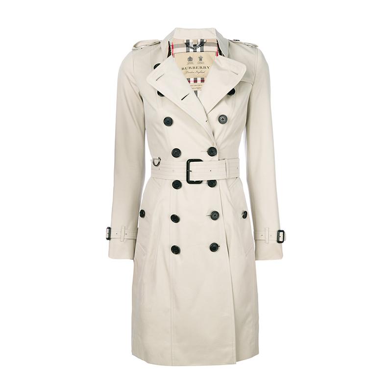 BURBERRY/巴宝莉女装 博柏利切尔西版型长款Trench外套风衣 4013317