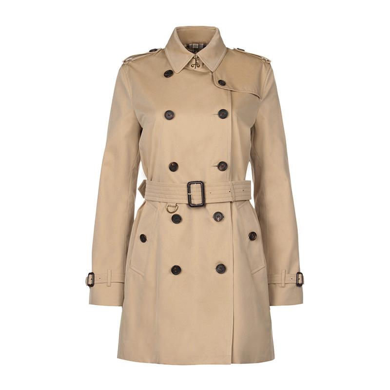 BURBERRY/巴宝莉女装 长款风衣棉质双排扣外套3900461-2
