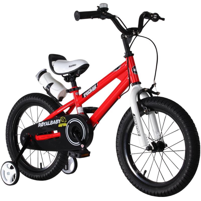 优贝(RoyalBaby)儿童自行车 小孩单车男女童车 宝宝脚踏车山地车 3岁5岁7岁9岁 表演车18寸 红色