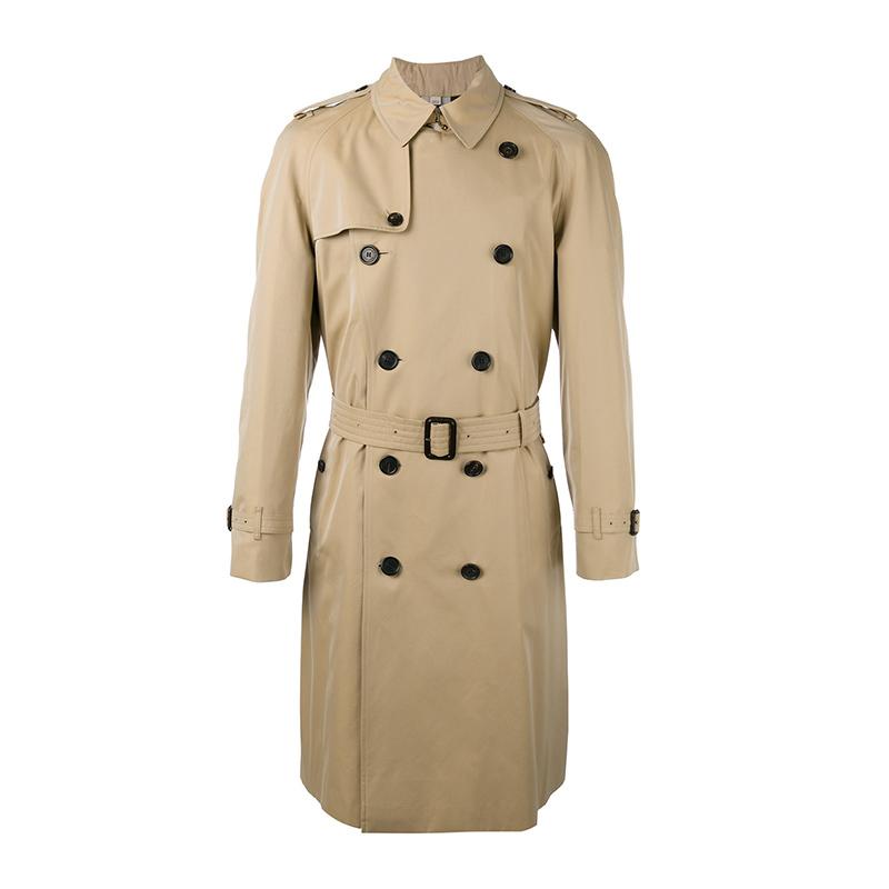 BURBERRY/巴宝莉男装 蜂蜜色棉质外套男士威斯敏斯特版型长款Trench风衣 3906690