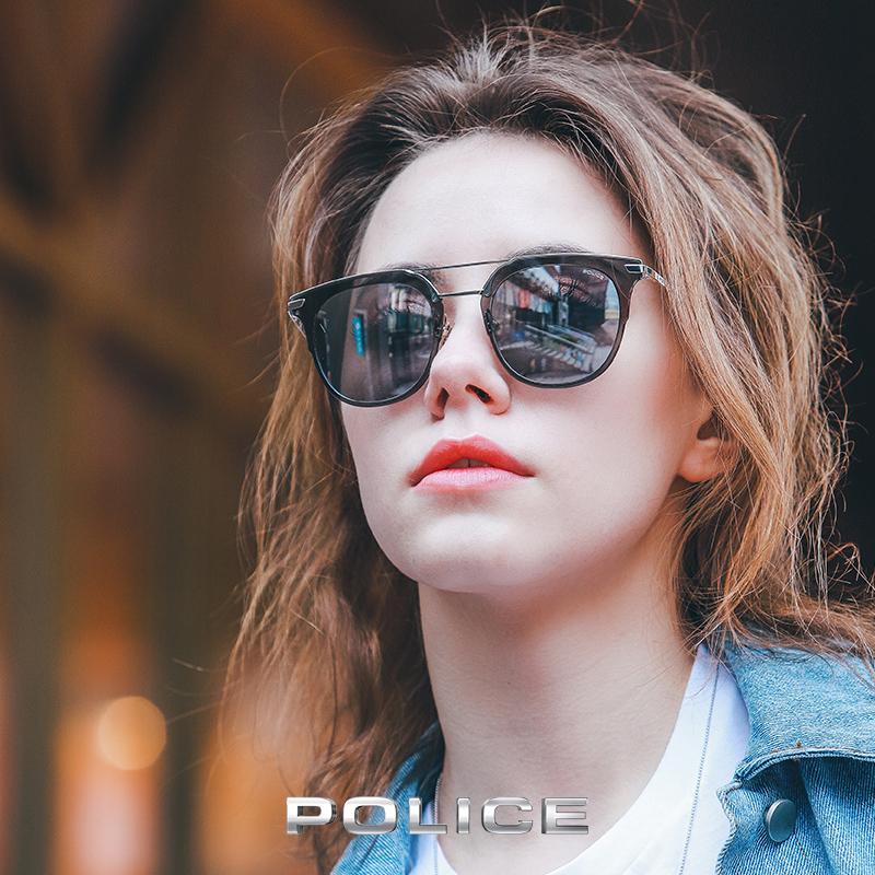 POLICE金属框太阳眼男女中性墨镜SPL584M 4色可选