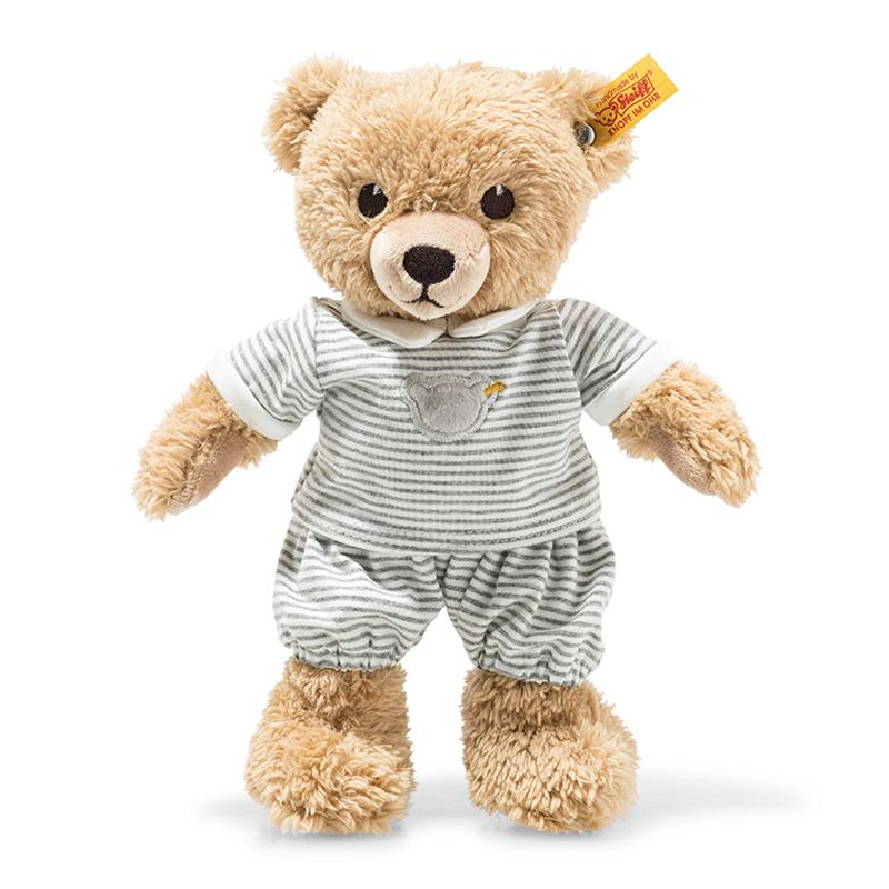 德国Steiff毛绒玩具哄睡熊灰色衣服 25cm 4001505239908