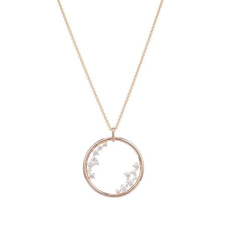 Swarovski 施华洛世奇项链 女士时尚百搭吊坠饰品 玫瑰金 银白5487069