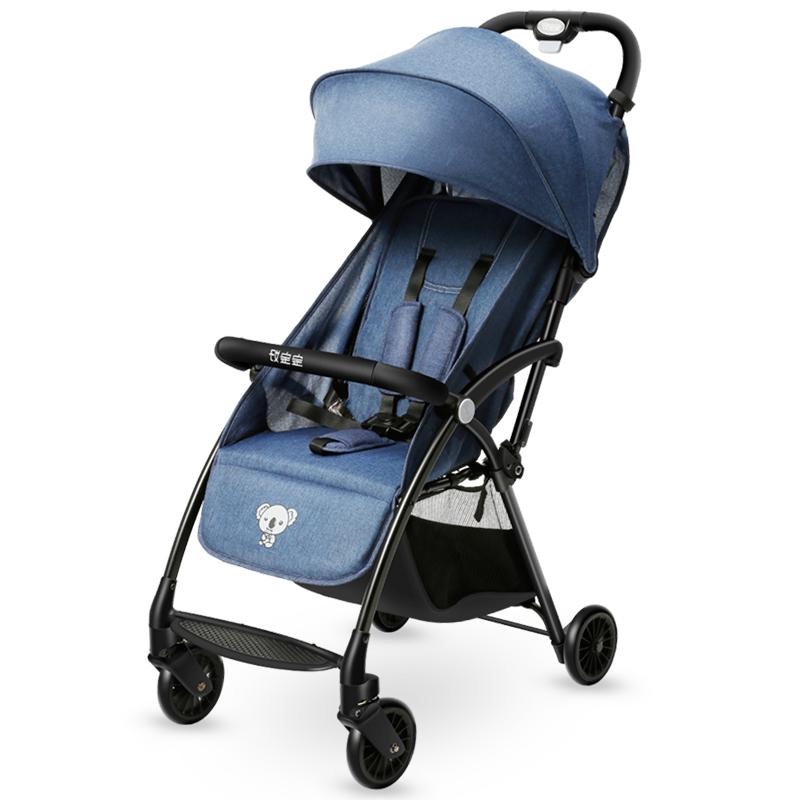宝宝好 婴儿推车可坐可躺轻便婴儿车折叠 手推车儿童夏季冬季通用 考拉蓝色