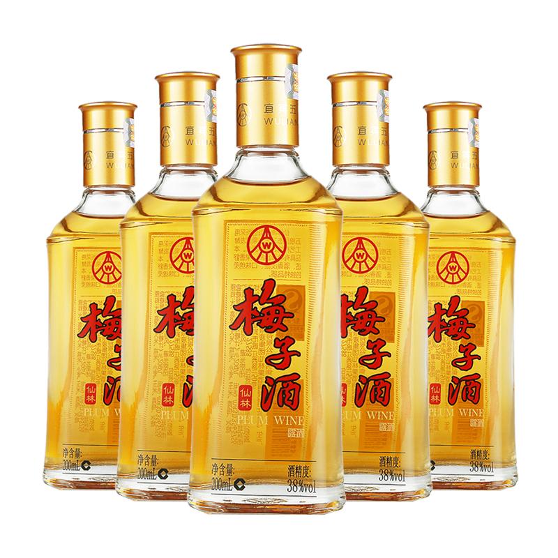 五粮液集团 梅子酒 38度 200mlX5瓶装