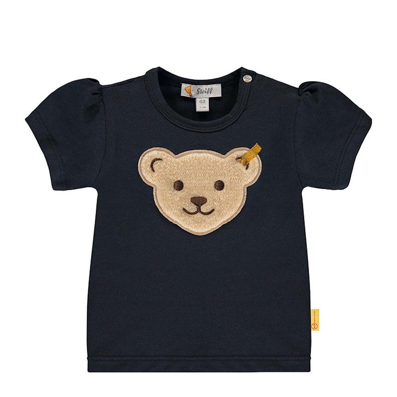 Steiff婴幼儿针织T恤 德国进口 蓬蓬袖 小熊短袖T恤 L002012241