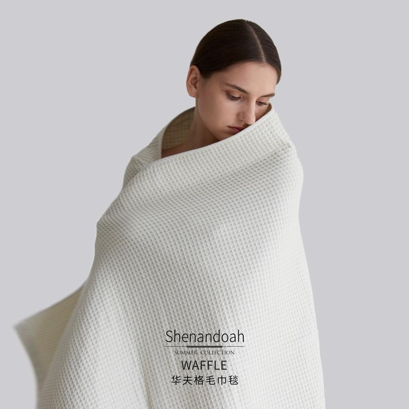 LaSuntin轻盈华夫格毛巾毯纯棉毛巾被双人初秋午休线毯子