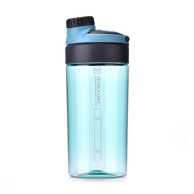 比得兔进口Tritan创意便携运动水杯-蓝色 600ml PR-T932