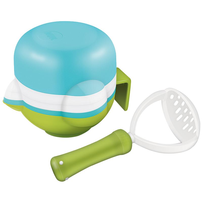 NUK研磨碗多功能食物研磨套装儿童餐具婴儿宝宝果泥辅食研磨碗辅食工具手动研磨器