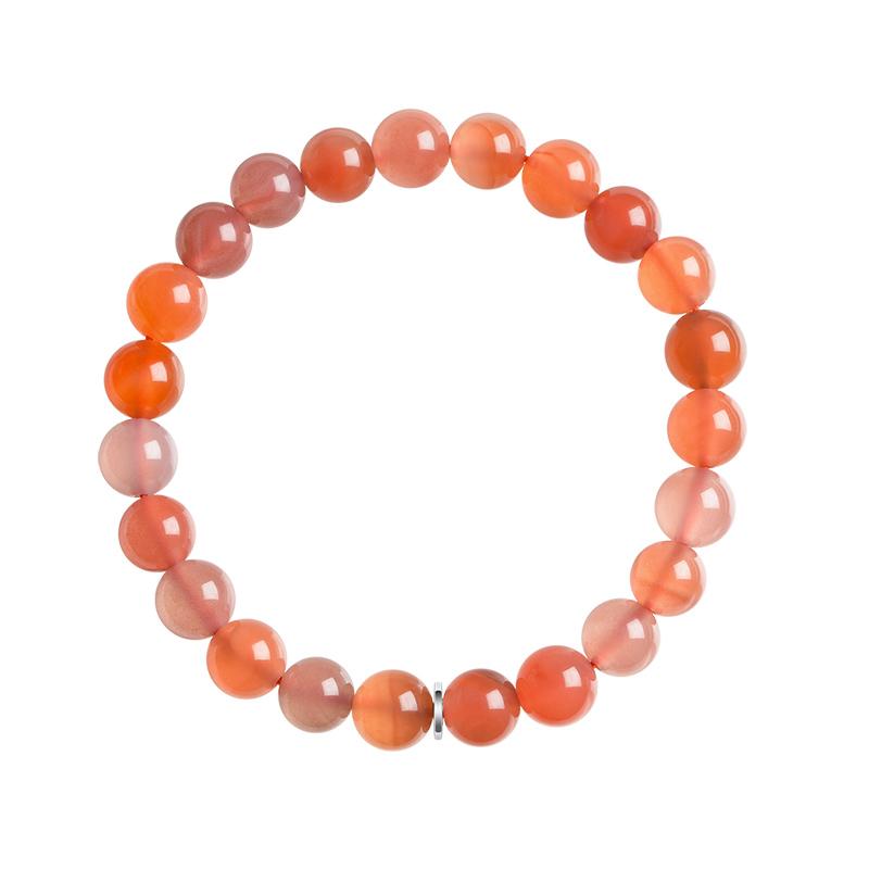 石頭記天然南紅瑪瑙手鏈女時尚串珠手串手環