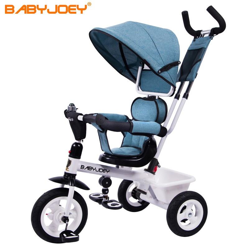 Babyjoey 英国儿童三轮车脚踏车手推车1-3-5岁宝宝自行车 小魔仙 精灵蓝