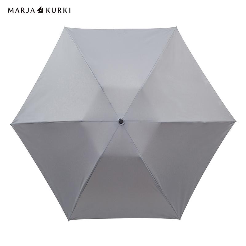玛丽亚.古琦(MARJA KURKI)男女士纯色超轻三折叠太阳伞晴雨伞知性纯色9FF236190灰色