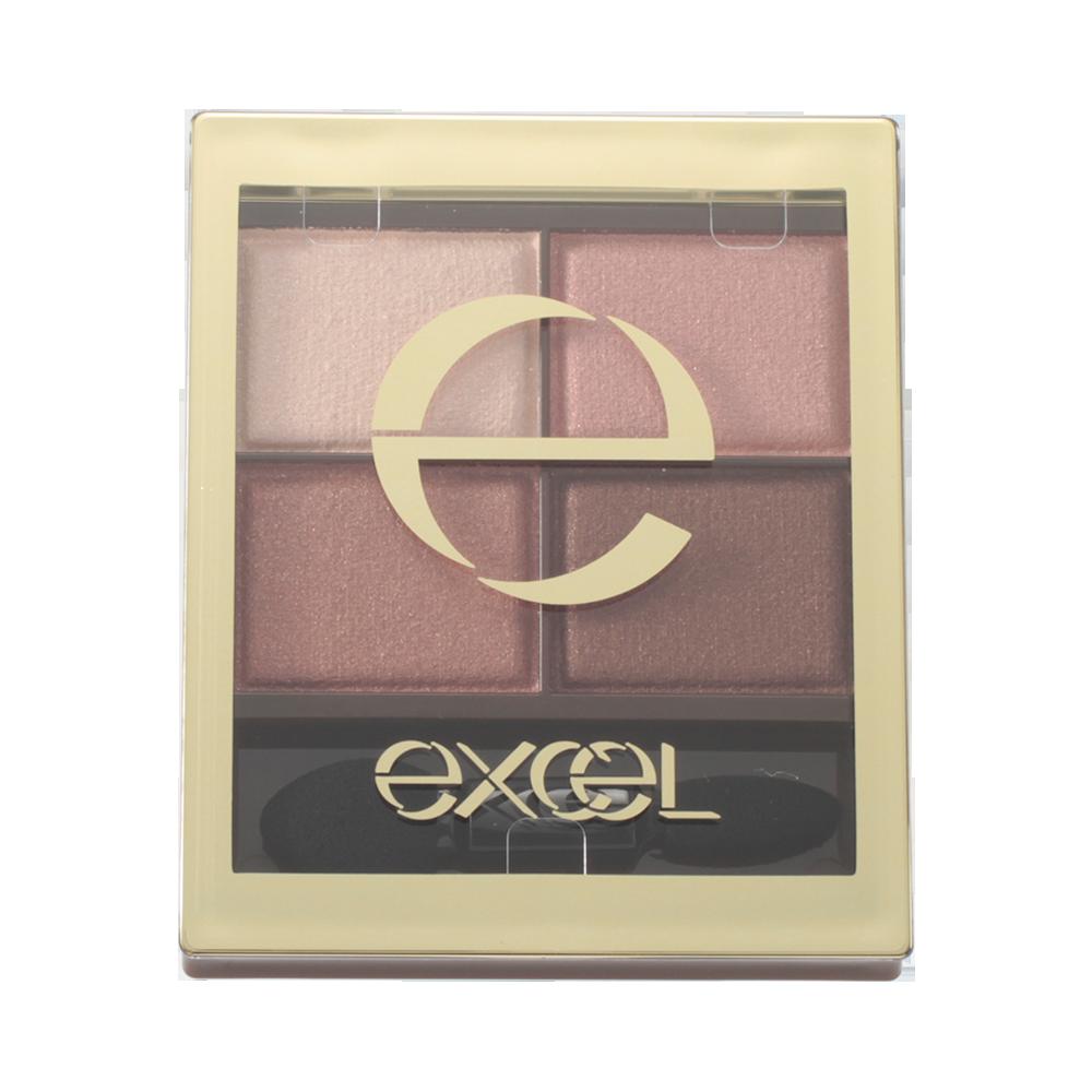 EXCEL 大地四色眼影 SR06 微醺粉棕 4.3g