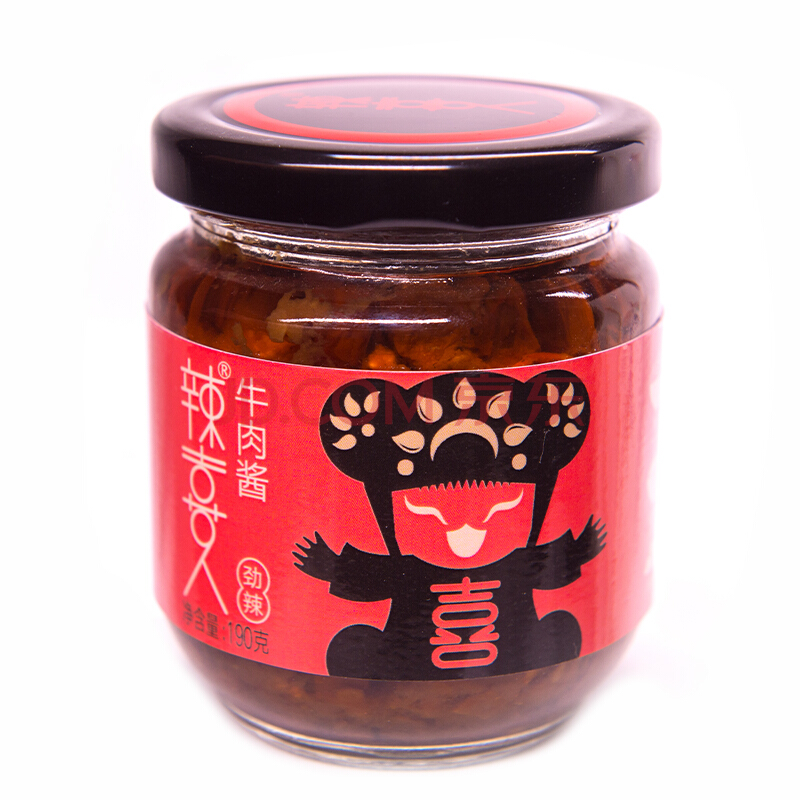 辣喜人 香辣牛肉酱(爆辣)190g 香辣辣椒酱 拌饭酱 拌面酱 下饭菜火锅底料调味酱,辣喜人