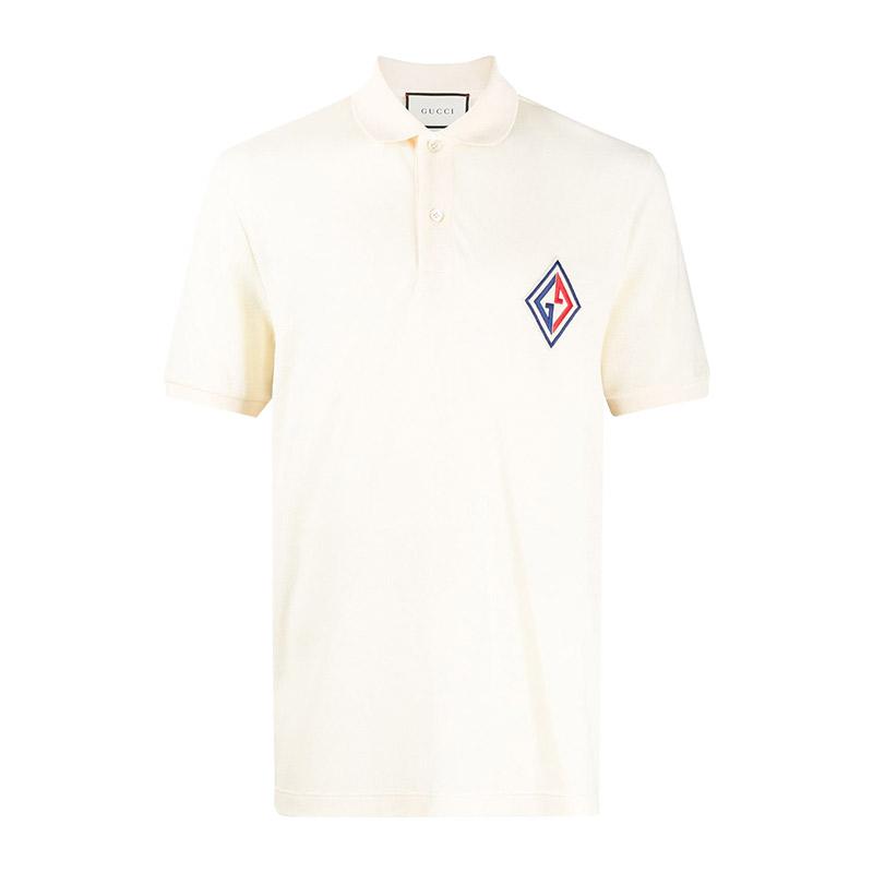 GUCCI/古馳 男士白色短袖POLO衫 564651-XJAYM-9247