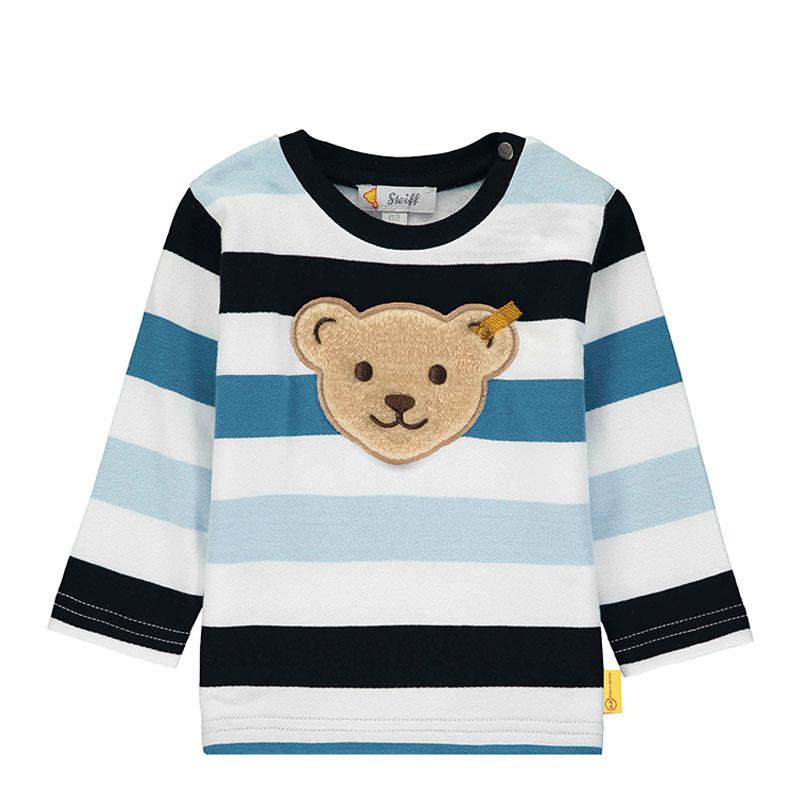 Steiff男婴针织套头衫 德国进口 男婴条纹长袖T恤 L002011225