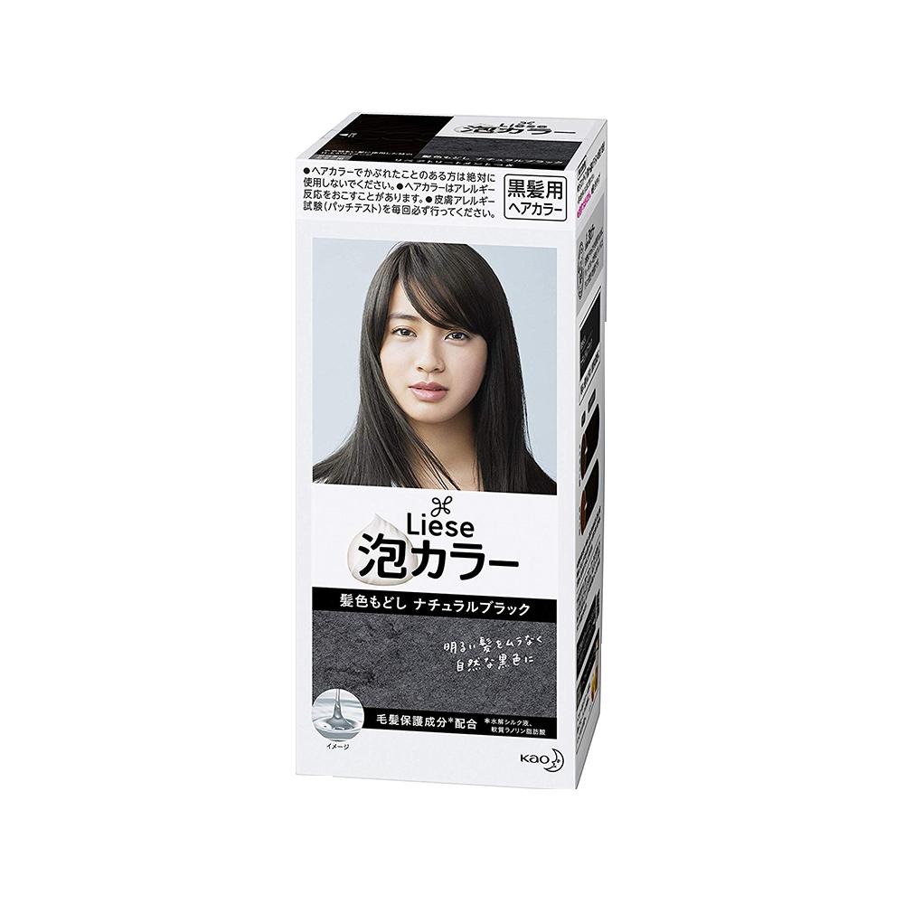 KAO 花王 PRETTIA泡沫染发剂 自然黑色 1盒