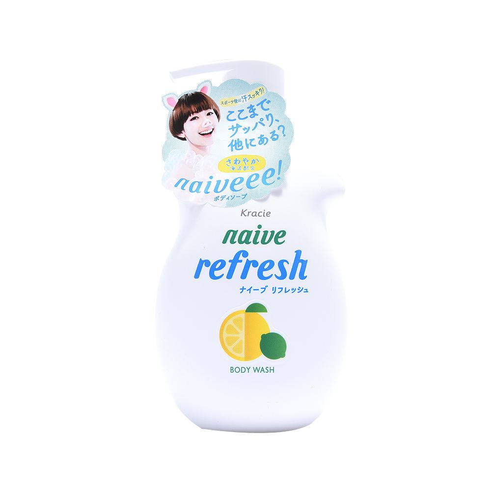 KRACIE 肌美精 大瓶装沐浴露 活力柠檬海泥精华 530ml