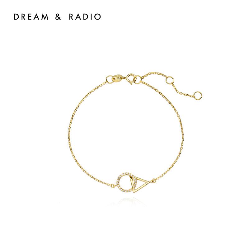 Dream&Radio925银手链女潮网红手镯学生闺蜜韩版简约ins小众设计个性手饰