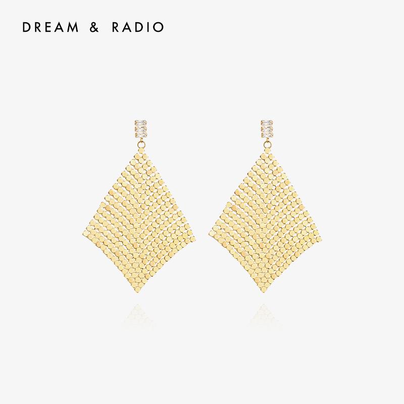 Dream&Radio 复古流苏耳环气质网红长款显脸瘦耳坠时尚耳饰女