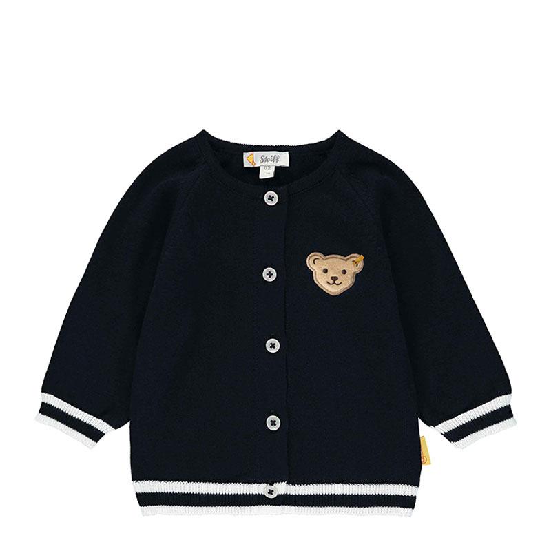 Steiff婴幼儿针织开襟衫 德国进口 深色开衫系扣外套 L002012234