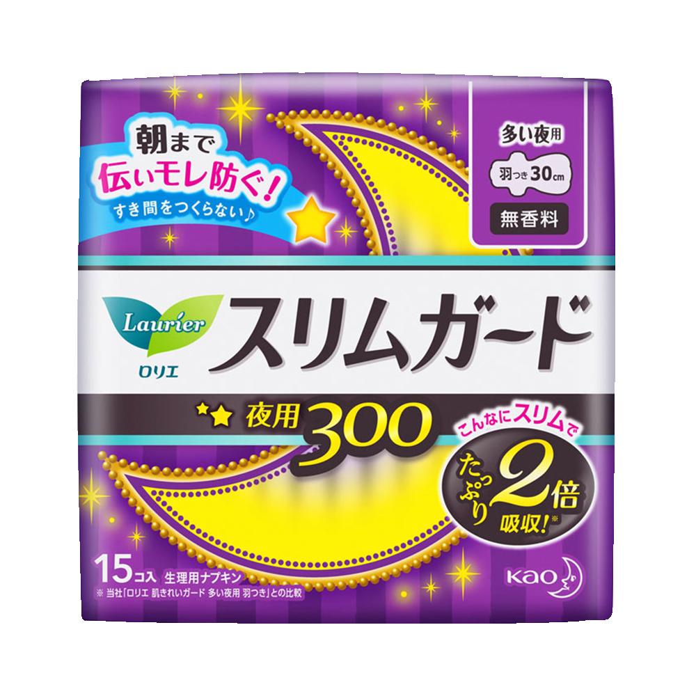 Laurier 乐而雅 瞬吸超薄夜用卫生巾 30CM