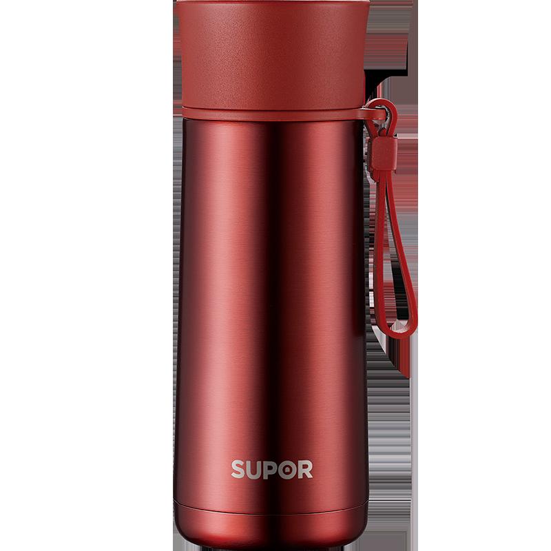 蘇泊爾(SUPOR)350ml保溫杯男女士304不銹鋼真空水杯學生直身便攜大容量茶杯子 烈焰紅 KC35AD5R