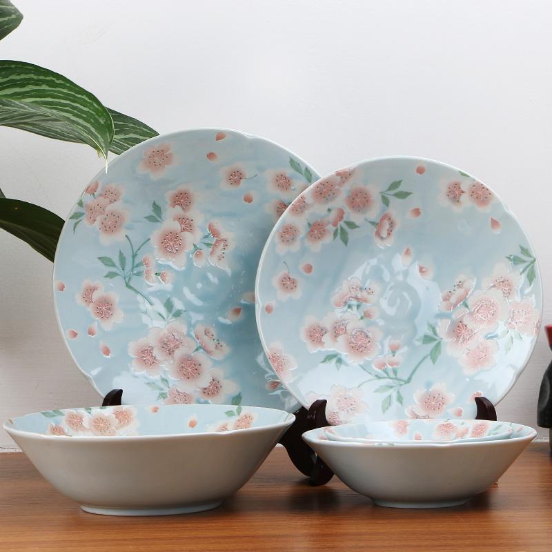 MINOYAKI美浓烧 日本进口满开樱花系列陶餐具套装