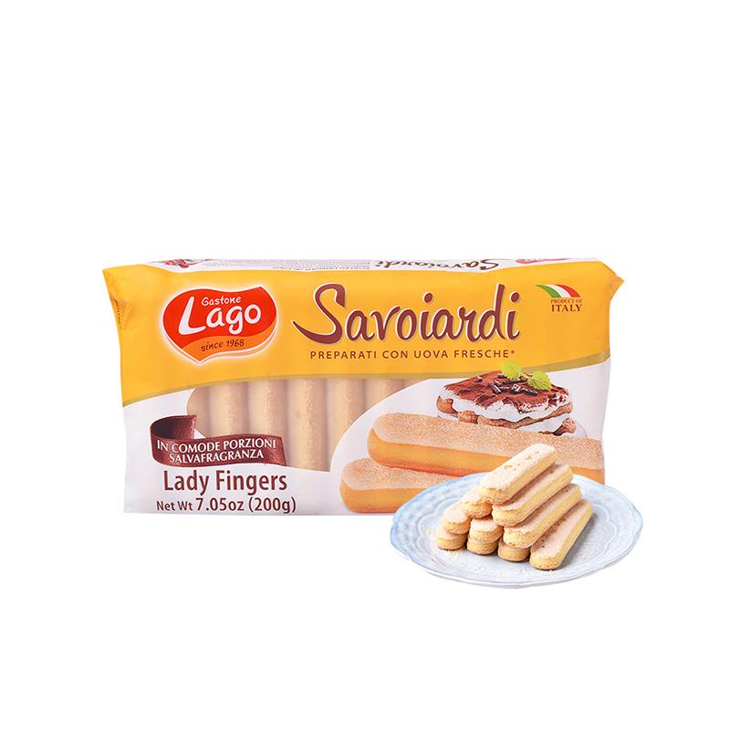 意大利進口愛利地手指餅干棒提拉米蘇零食小包裝 兒童酥餅干200g