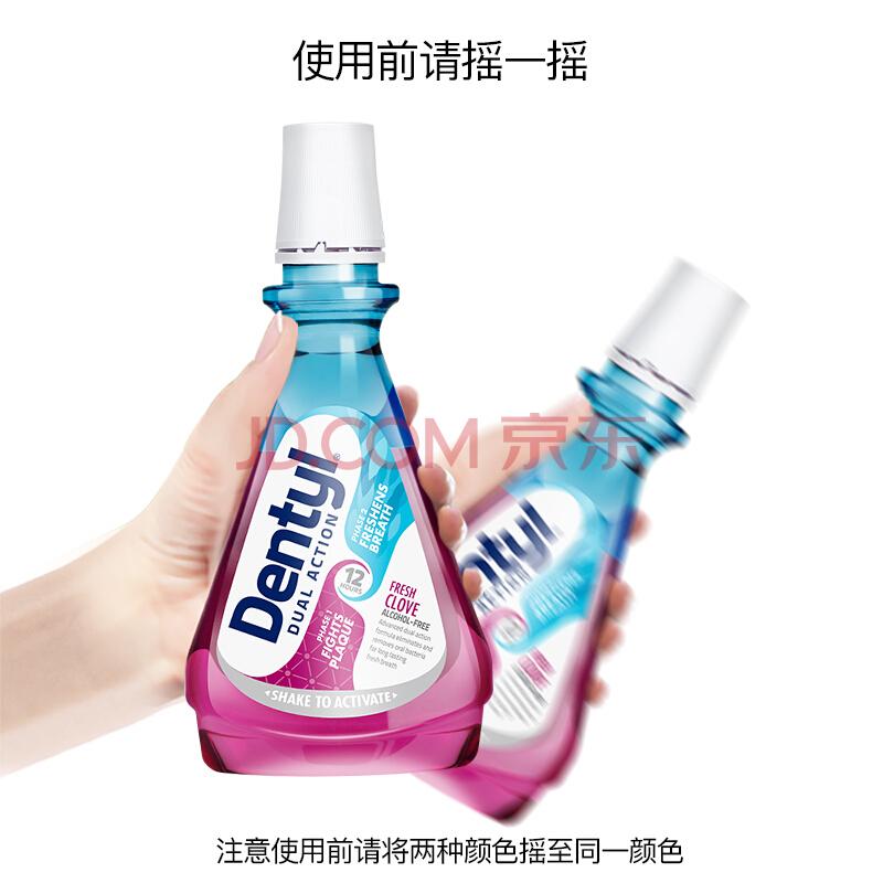 邓特艾克 Dentyl Active漱口水 清新口气 去牙渍 深层清洁清新丁香500ml,邓特艾克(Dentyl Active)