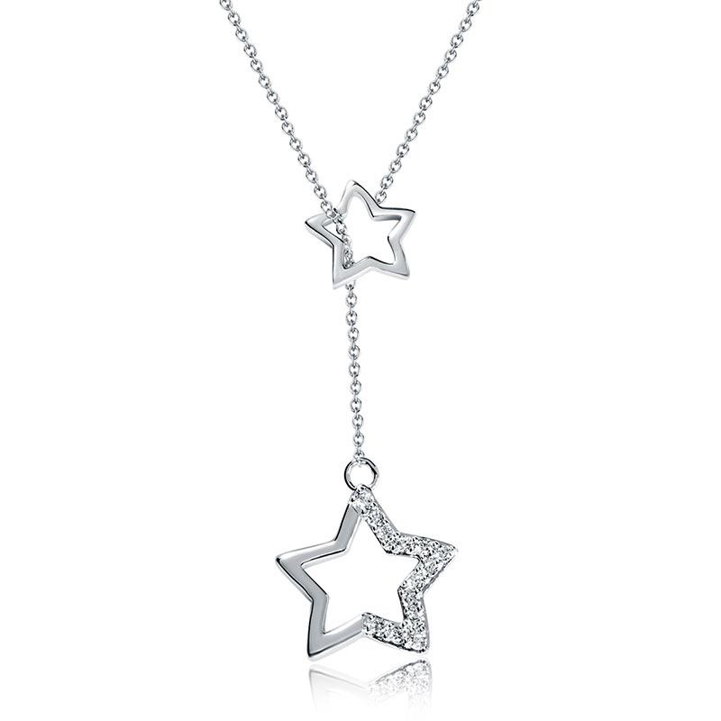 【美國】MYFD 項鏈女S925銀首飾品星星項鏈YN1817