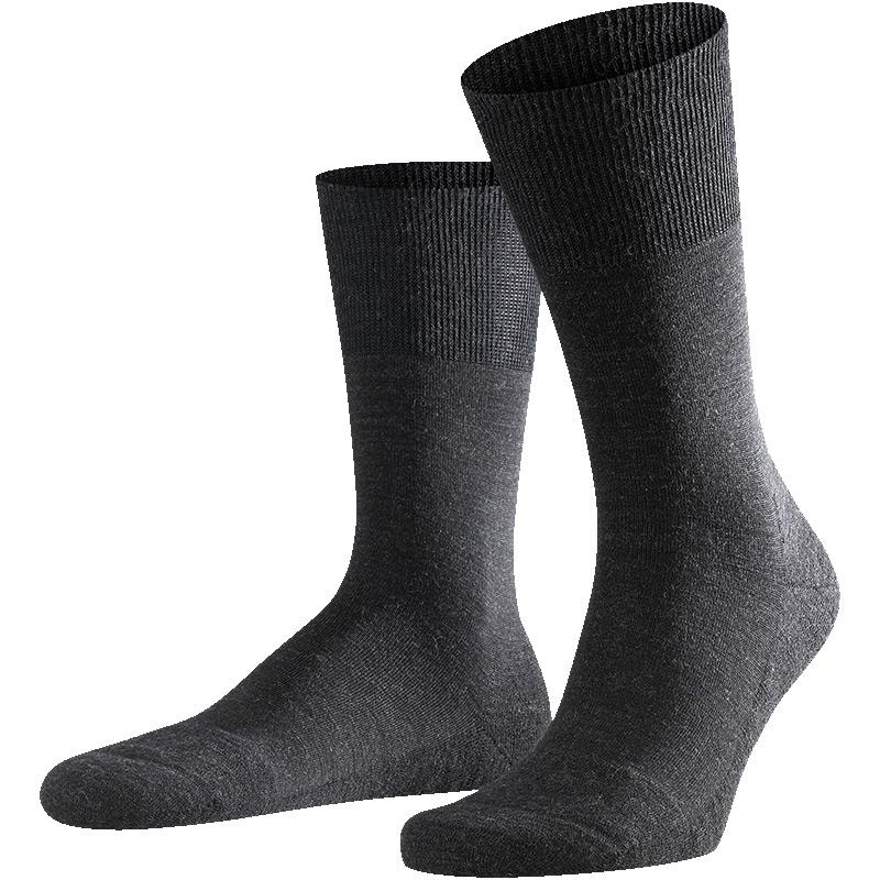FALKE德国正装Airport plus黑袜子男士保暖舒适商务中筒男袜14403
